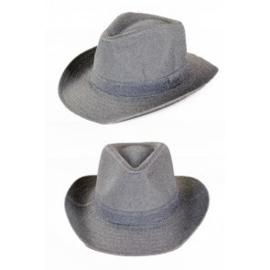 Cowboyhoed zilver glitter
