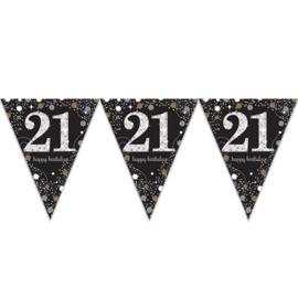 Vlaggenlijn sparkling gold 21 jaar