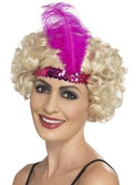 Charleston diamond hoofdband pink