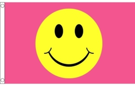 Vlag pink smiley