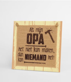 Wooden sign - Opa |