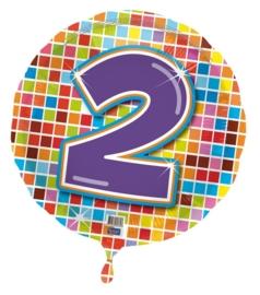 2 jaar folieballon blocks excl.