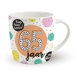 Verjaardags mok - 65 jaar | koffie beker