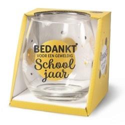 Wijnglas School jaar Proost!