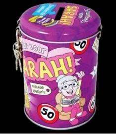 Spaarpot 50 jaar Sarah