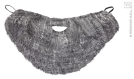 Baard met snor grijs | baardstel