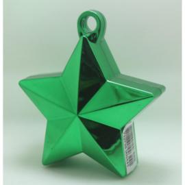 Star ballongewicht metallic groen