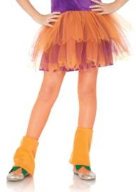 Netpanty kinderen Neon oranje op=op