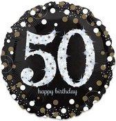 Folieballon birthday sparkling 50 (73cm)