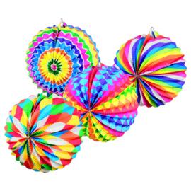 Lampion multicolor 12x