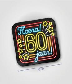 Neon onderzetters 60 jaar