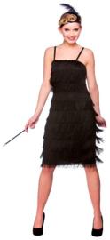 Jazzy flapper jurkje zwart