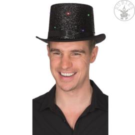 Hoge hoed met Led | Zwart