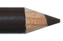 Oogpotlood 11 cm donkerbruin