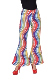 Rainbow disco broek op=op