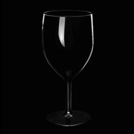 Kunststof wijnglazen 27cl zwart 6 stuks