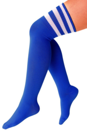 Lieskousen blauw met witte strepen