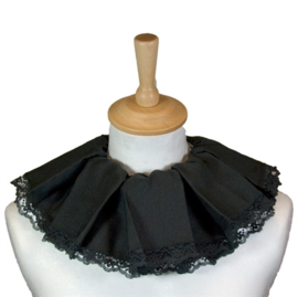 Pieten kraag kant zwart luxe