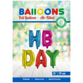 "folieballon word 16"" 'HBDAY' ass. colors"