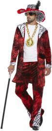 Pimp kostuum rood | Pooier pak