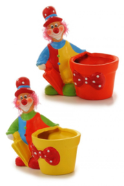 Clown met bloempotje keramiek