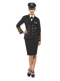 Navy officiers kostuum dame