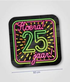 Deurbord neon 25 jaar