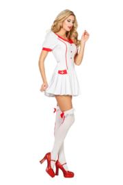 Sexy verpleegstersjurkje met plooi