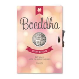 Kaart geluksmunt Boeddha