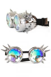 Steampunkbril zilver