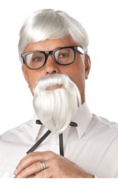 KFC kolonel pruik set