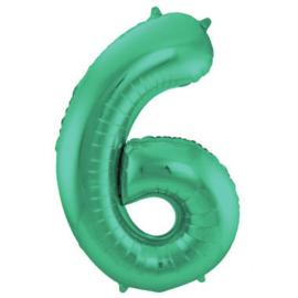 Folieballon 6 mat groen