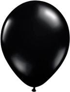 Kwaliteitsballon standaard - zwart - 50 stuks