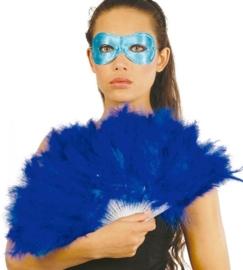 Marabou waaier blauw