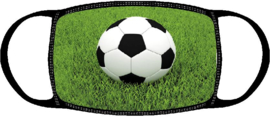 Kinder Mondkapje met voetbal | voetballen print | wasbaar