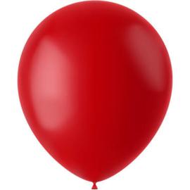 Ballonnen Ruby Red Mat 33cm - 50 stuks