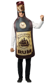 Fles rum kostuum