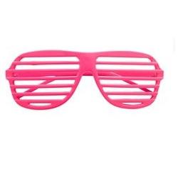 Lamellen bril neon roze
