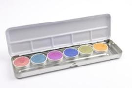 Superstar waterschmink palet 6 kleuren