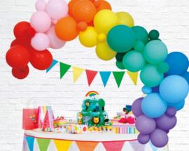 Ballonnen decoratie set luxe | regenboog