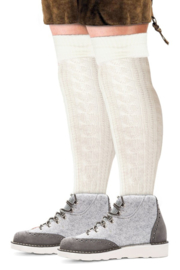 Tiroler sokken lang wit
