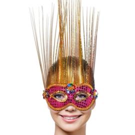 Masker Venice Magenta / Goud