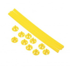 10 Ballon sticks 40cm geel
