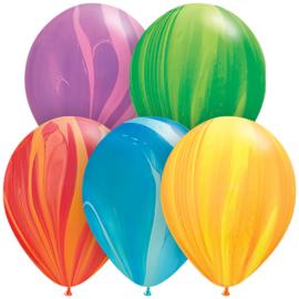 Marmer ballonnen assortie 25 stuks