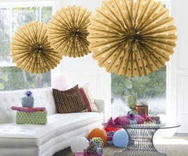 Honeycomb fan deco