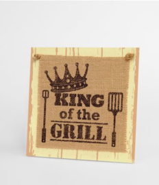 Wooden sign - King of the grill |