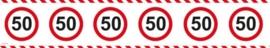Markeerlint 50 jaar verkeersbord