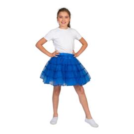 Petticoat meisje | glitter blauw