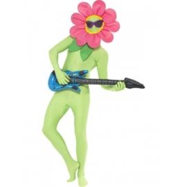 Morph suit / kostuum flower accessoire