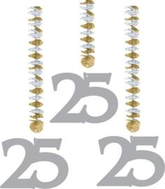 Hangdecoratie 25 jaar zilver